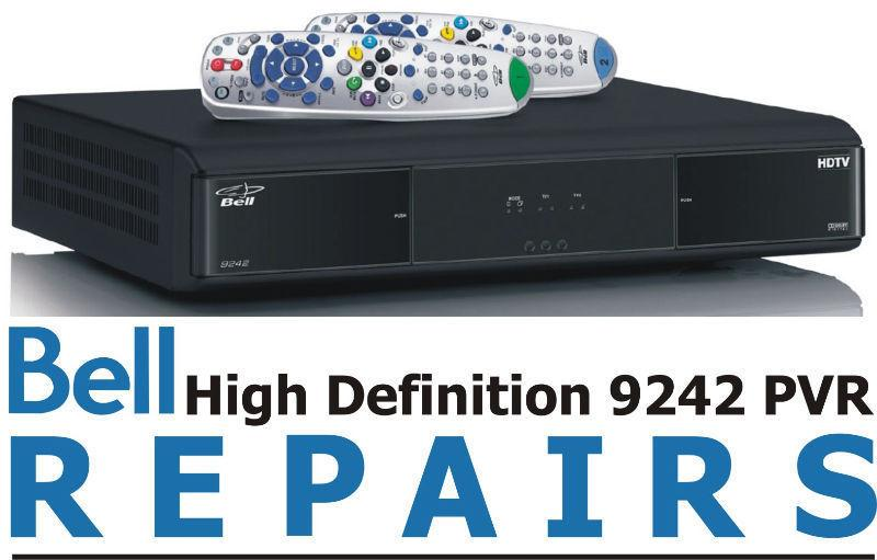 BELL RECEIVER REPAIRS PVR 9241 9242 9400 and 6400