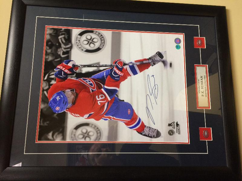 Pk Subban signed Canadiens jersey and photo