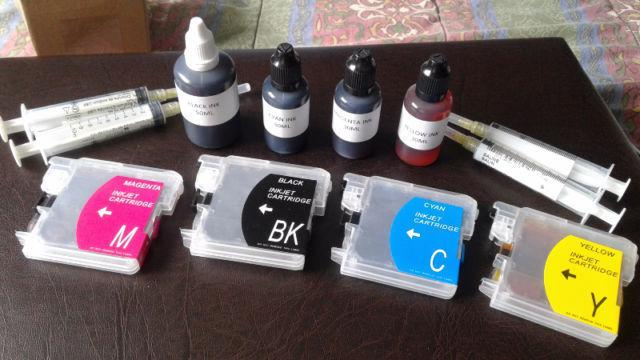 4 Brand New Brother LC61 Ink Cartridges