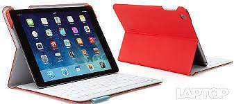 IPad Air Red Logitech cloth case with Keyboard $50
