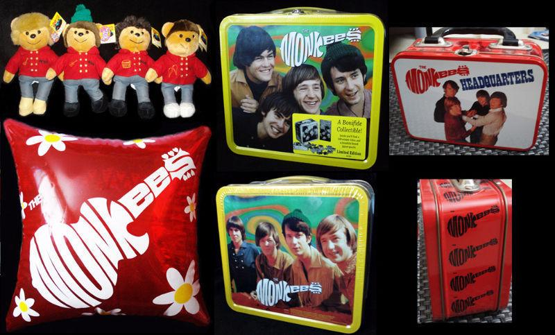 Monkees Collectibles Lunchboxes Teddy Bears and Pillow