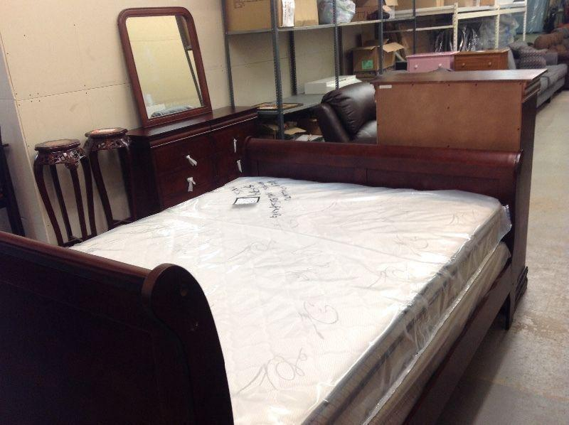 Sleigh beds...single, double, Queen, king..brand new