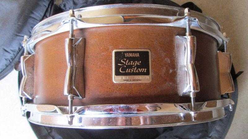Yamaha Stage Custom Snare with Fibreboard Road Case