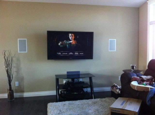 Want Your TV Mounted? Hidden Cords? Visa & MC & AMEX