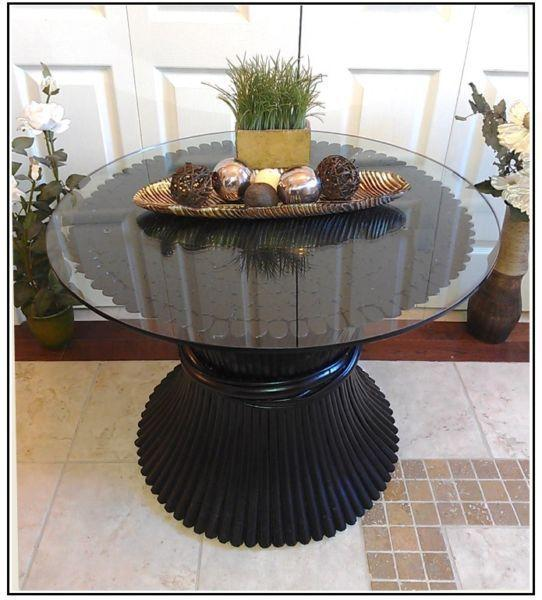 Stunning! Tempered Glass Black Side / Coffee Table, H 30