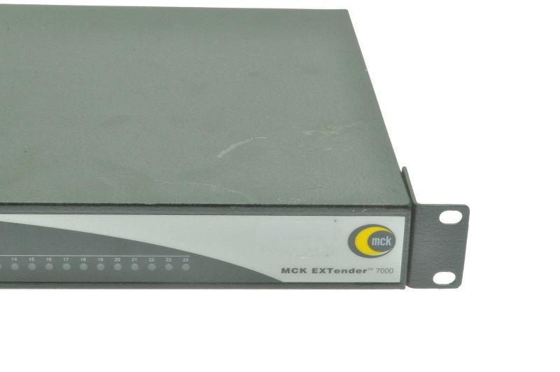 MCK EXTENDER E-7000 24 PORT PBX MODEL # E-7000-RUM