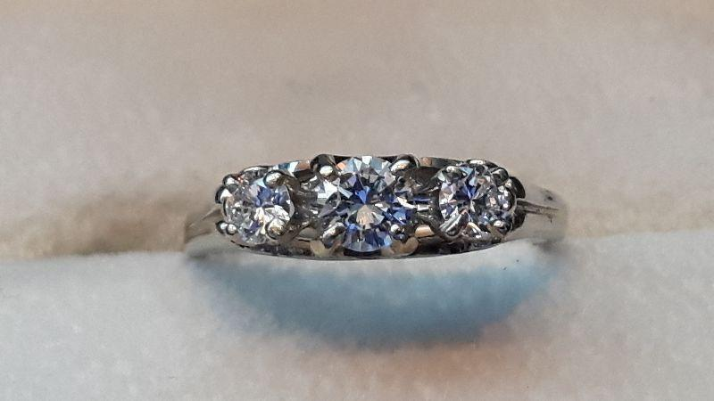 $$ 3 STONE and 5 STONE DIAMOND RINGS ESTATE SALE $$