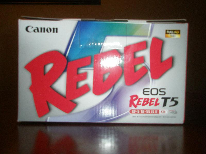 Canon EOS Rebel T5 18MP DSLR with Image Stabilizer