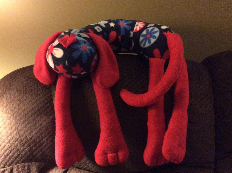Fleece animal neck pillows