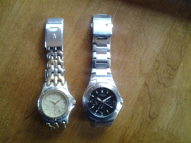 2 Bulova watches. For sale