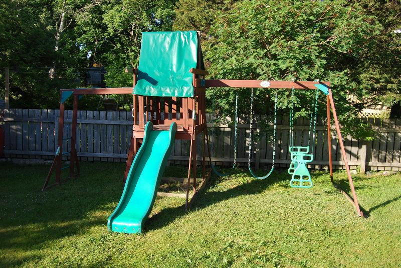 Swingset with slide for sale