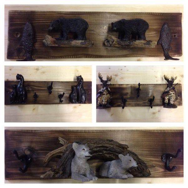 Animal coat towel key rack cottage home decor