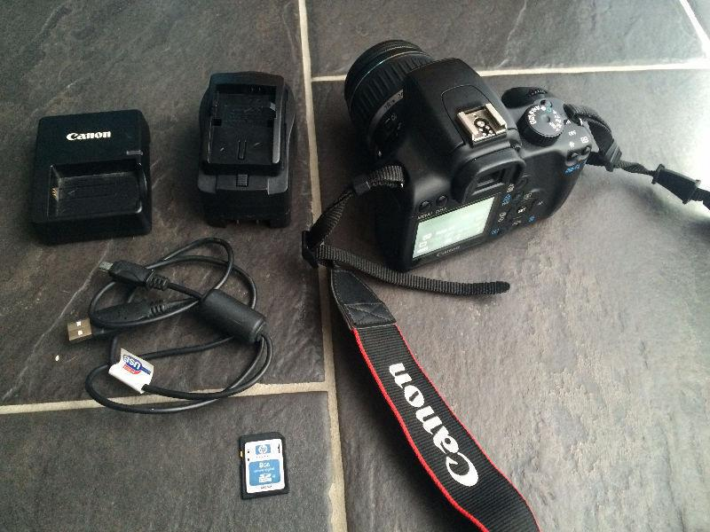 Canon EOS Rebel XS with 18mm-55mm lens and accessories. No Trade