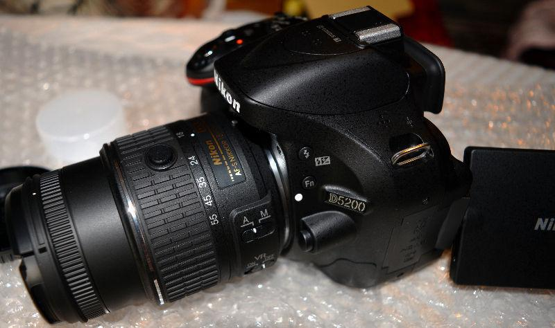ABSOLUTELY Brand New NIKON D5200 w/18-55mm Lens VR II, In Box