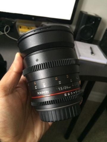 Rokinon 24mm T1.5 Cine DS Lens for Canon EF