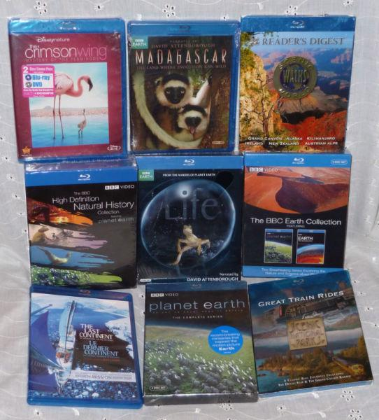 BBC BLU-RAY COLLECTION LIFE PLANET EARTH & NATURE FILMS NEW