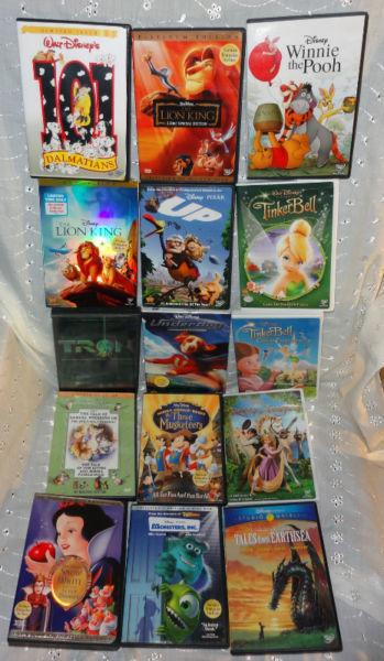 DISNEY MOVIE DVD Lion Beauty Snow Toy Bambi UP Fantasia Cars Rio