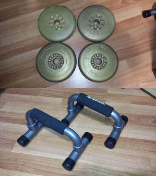Poids 5 lbs (4 unités) + poignées push-up