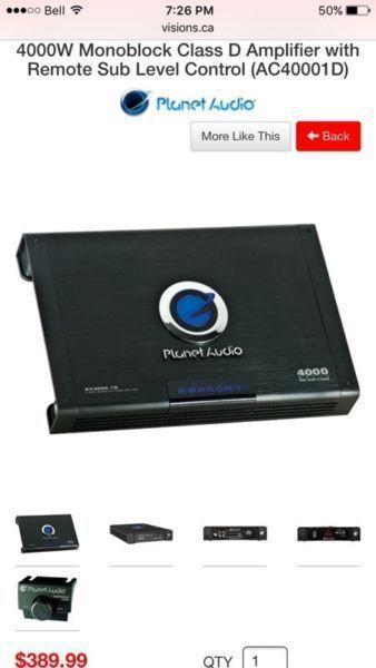 Planet audio 4000 watt amp