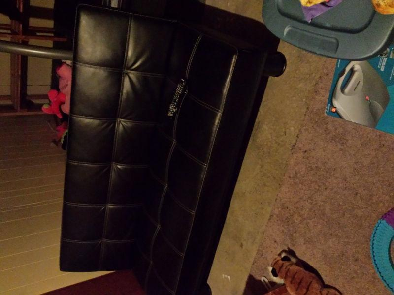 Black mini couch