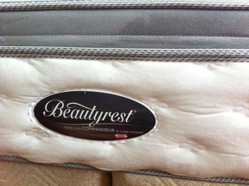 King size BeautyRest Pillow top complete bed set with frame