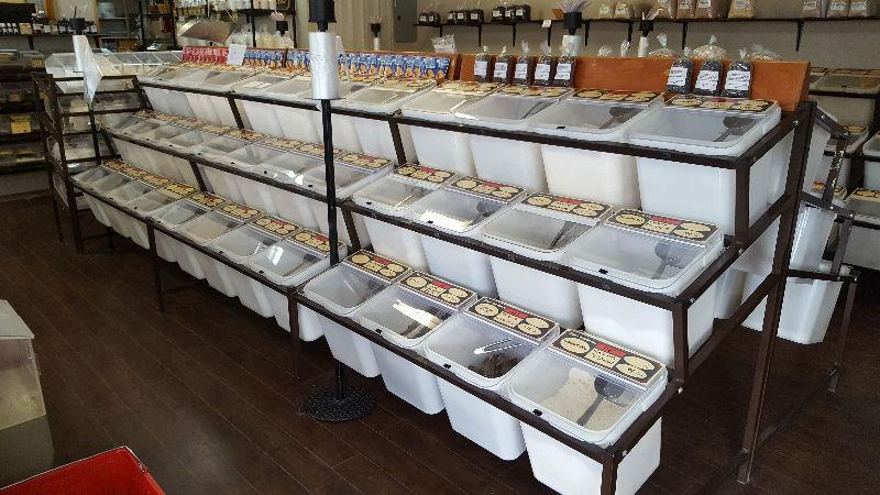 Complete bulk food store equipment for sale