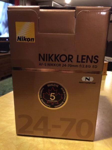 Nikon 24-70 f2.8G Lens For Sale