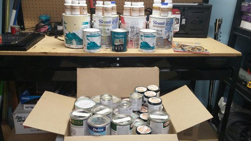 Paint Sample Sizes, Quarts, Gallons