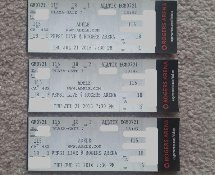THUR SHOW!==** RARE! (3) TOGETHER AVAILABLE! ADELE = LOWER BOWL!