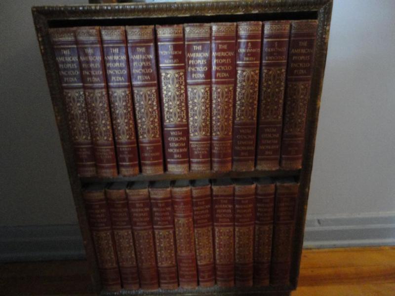 1950s Encyclopedia's & Book Case