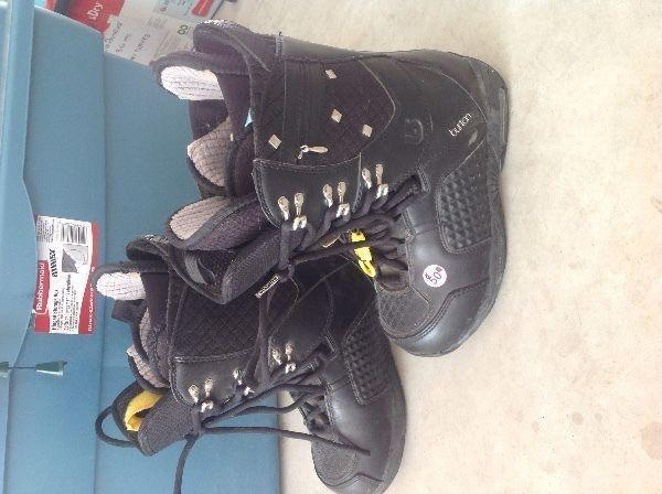 Womens Us 7 Sapphire Burton Snow Board Boots (Reduced) From $50