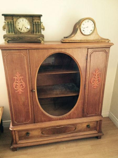 Two antique buffets