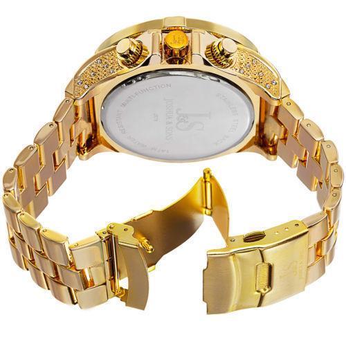 Men's Joshua & Sons Bold Swiss Multifunction Dazzling Bracelet W