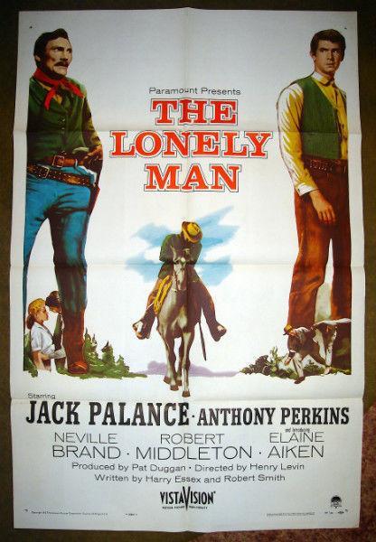 RARE ORIGINAL 1957 JACK PALANCE OUTLAW WESTERN MOVIE POSTER