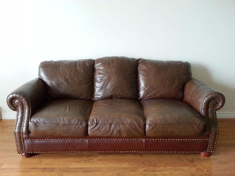 Selling: dark brown leather couch
