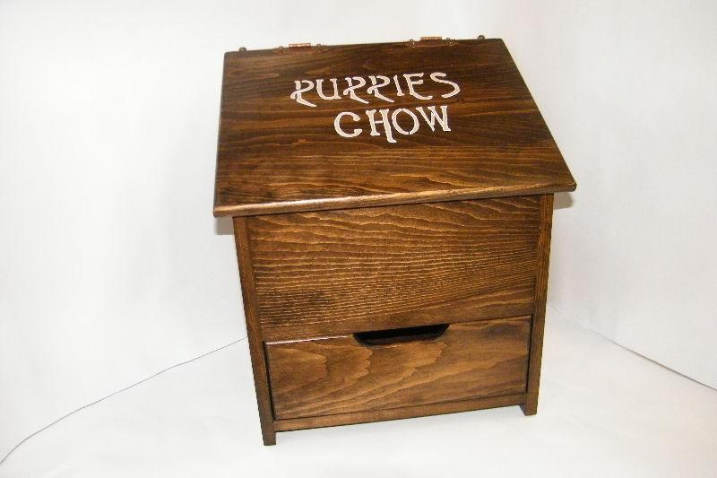Solid Wood Custom Made Potato and Onion Bin/Dog Food Bin