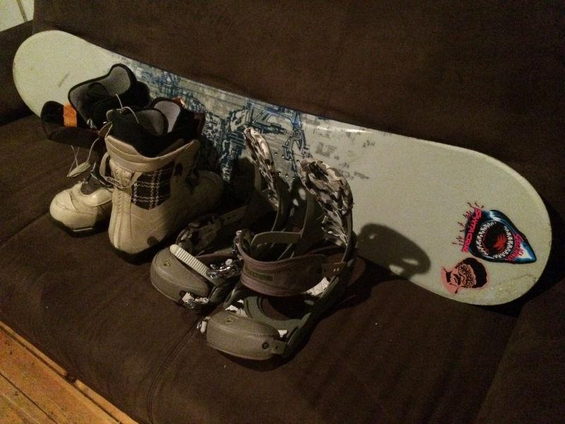 K2 159 board and men's BURTON boots and bindings size 11