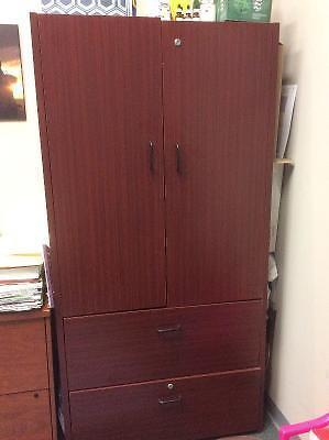 Mahogany Cabinet with File Drawers