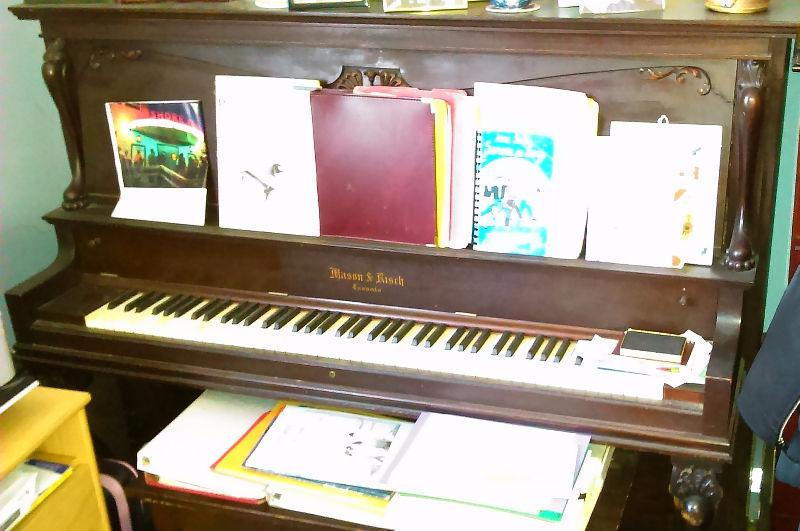 PIANO, ANTIQUE, UPRIGHT,