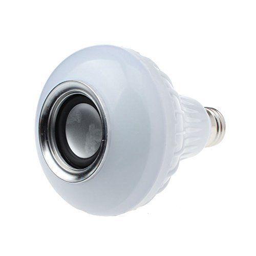 Bluetooth Speaker Multicoloured LED Lightbulbs w/ Remote Control