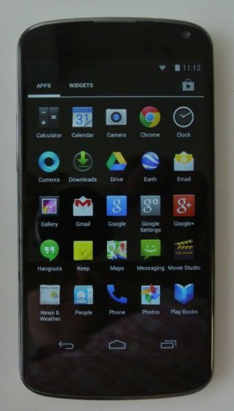 ✅LG NEXUS Unlocked Nexus 4 16GB E960 Smartphon Black WIND M26