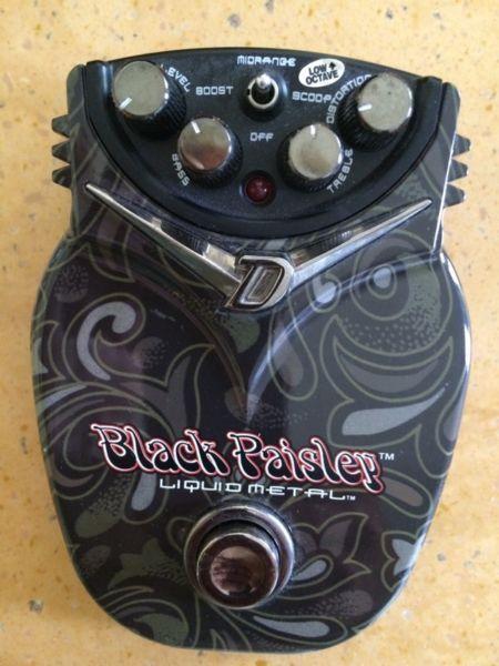 Black paisley Danelectro guitar pedal