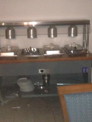 Hot buffet table