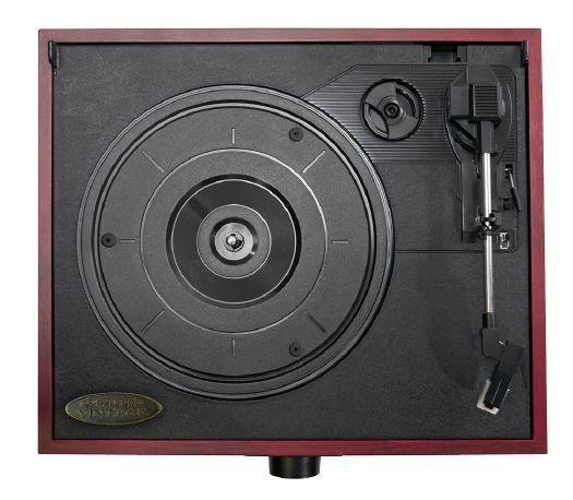 PylePro Classic Vintage Retro Style Turntable with Vinyl-to-MP3