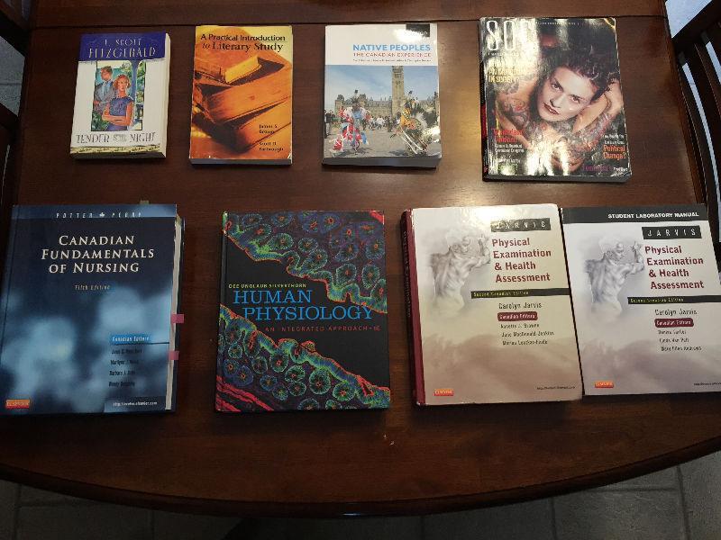 NURSING AND 1ST YEAR UNIVERSITY TEXTBOOKS