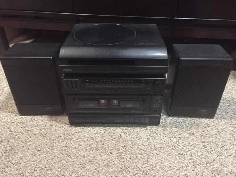 Vintage Yorx Stereo with Turntable & Cassette
