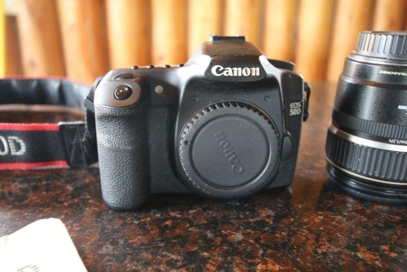 Canon 50D Body and Lense for sale