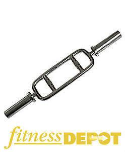 Brand New Fitness Depot Olympic Tricep Bar Barbell Chrome BBOTRI
