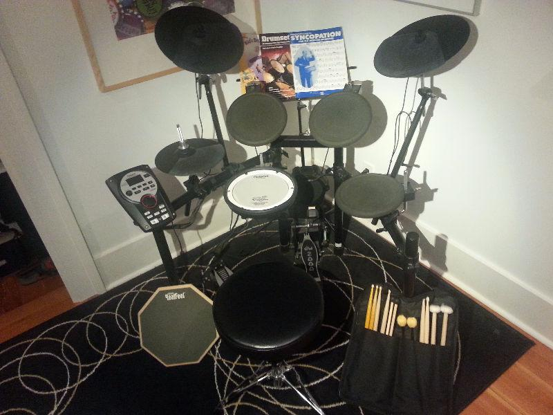 Roland TD-11K V-Drums Electronic Drum Set + Starter Equipment