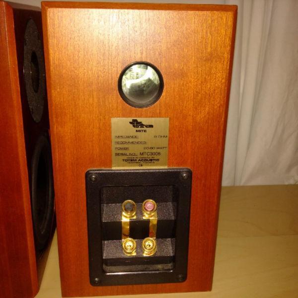 Totem Mite Speakers - Cherry finish